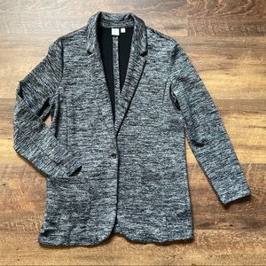 The Gap Marled Black Smoke Knit Boyfriend Blazer